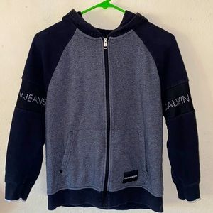 Calvin Klein zip up hoodie